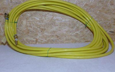 Tuyau d'arrosage jaune 25 cm et lance #J2401